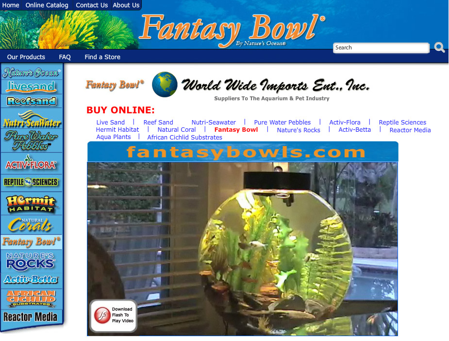 PURCHASE FISH TANK BOWLS & AQUARIUM SUPPLIES (Scroll Down)